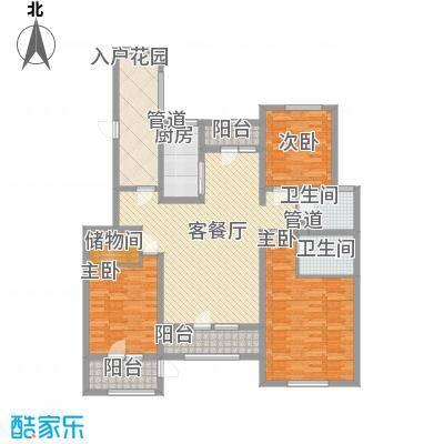 生态城公园360°158.00㎡22#23#28#楼三居户型3室2厅2卫1厨