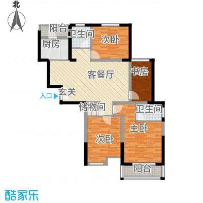 国园壹城133.00㎡一期2#标准层A户型3室2厅2卫1厨