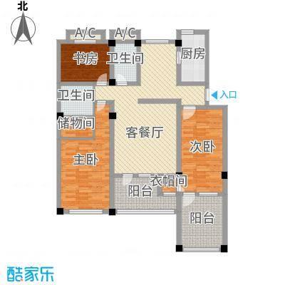 天泰茗仕豪庭141.50㎡花园洋房二层H2户型3室2厅2卫