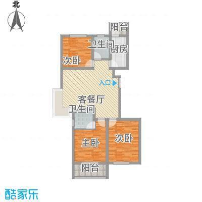 润鑫・公园壹号4#楼E-2户型