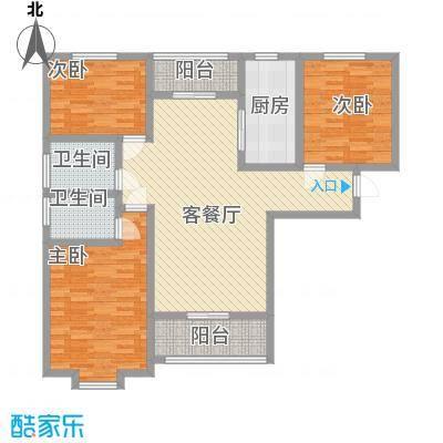 世纪一品142.00㎡5#A户型3室2厅2卫1厨