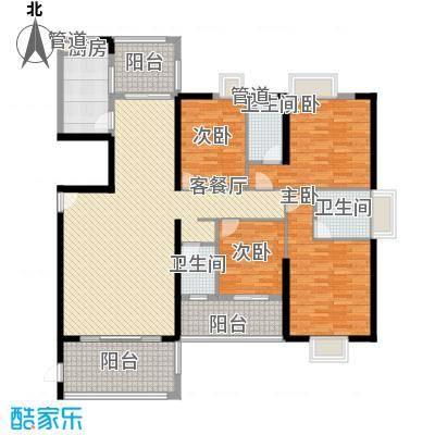 富雅国际178.00㎡7#A01户型4室2厅3卫1厨