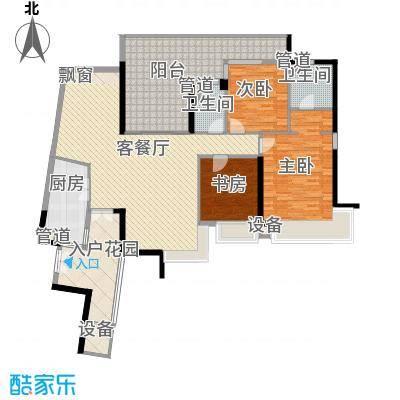 华发世纪城三期138.64㎡N3户型3室2厅2卫