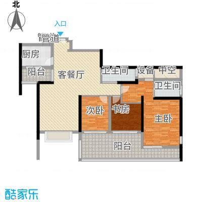 华发世纪城三期135.57㎡H3户型3室2厅2卫