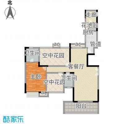 招商花园城16.00㎡二期13栋户型