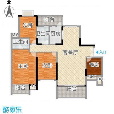 招商花园城18.40㎡9栋0户型4室2厅3卫1厨