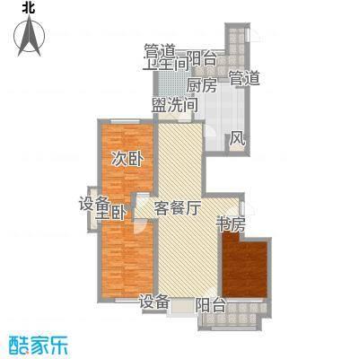 冠华园二期高层13、16、17号楼D标准层户型