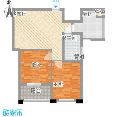 冠华园二期高层13、16、17号楼A标准层户型