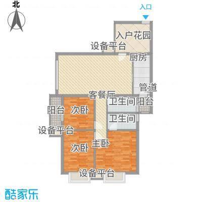西江月17.17㎡23栋2~18层A2户型3室2厅2卫1厨