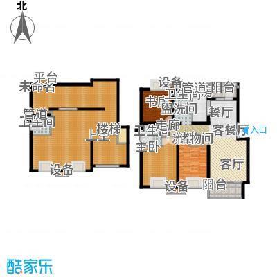 泰宸舒庭172.62㎡房型: 复式; 面积段: 172.62 -196.56 平方米;户型-副本