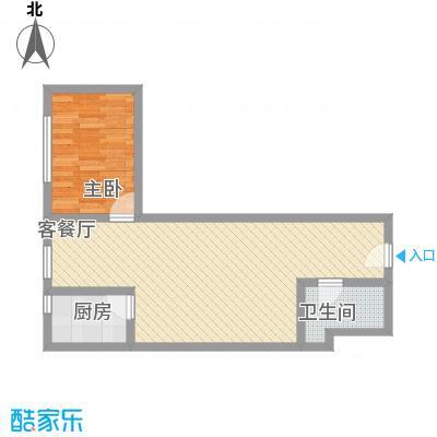 龙康・青年城7.34㎡户型1室2厅1卫