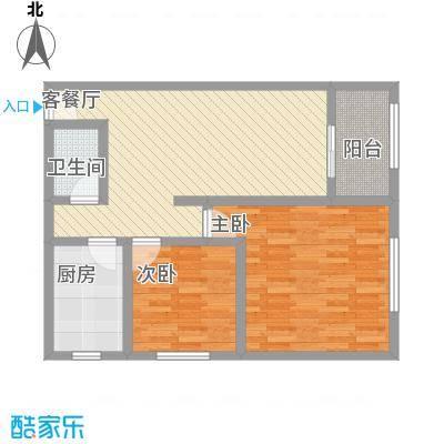 龙康・青年城15.24㎡户型2室2厅1卫