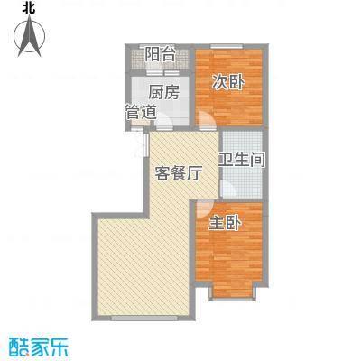 万锦逸城5.00㎡B户型2室2厅1卫1厨
