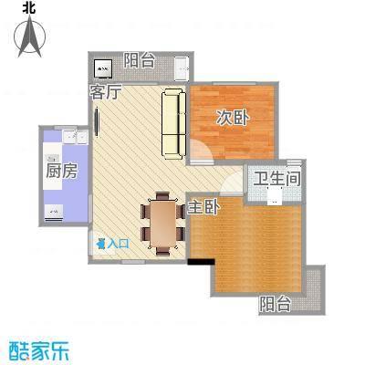 东方新城户型图--两房型-副本