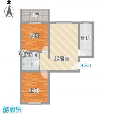 新升・琦锋苑82.00㎡A户型2室1厅1卫1厨