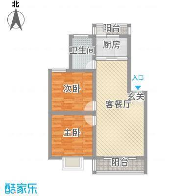 雍锦园85.40㎡yjy1户型2室2厅1卫1厨