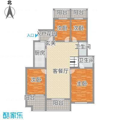金科股份廊桥水乡14.47㎡洋房A1''户型4室2厅2卫1厨