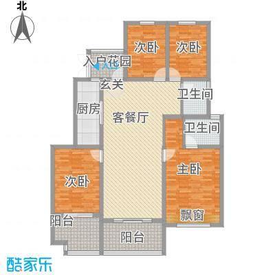 金科股份廊桥水乡14.47㎡洋房A2''户型4室2厅2卫1厨