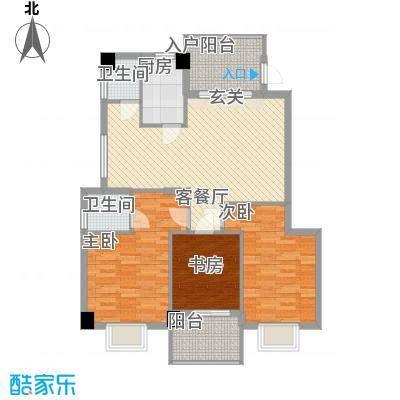 云龙海岸花园三期115.00㎡26栋户型3室2厅2卫1厨