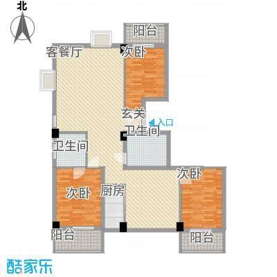 云龙海岸花园三期148.00㎡24栋户型3室2厅2卫