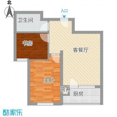 城南秀色67.50㎡1#B03户型2室2厅1卫1厨