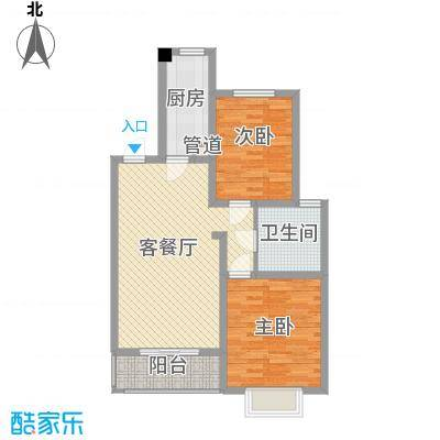 枫林湾18#楼标准层H户型