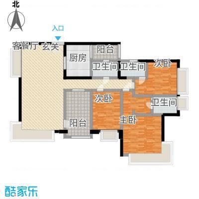 金域廊院168.00㎡户型5室