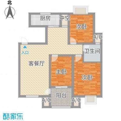 天泰茗仕豪庭113.44㎡I户型3室2厅1卫