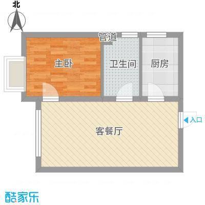 融域1345.13㎡H1户型1室2厅1卫1厨