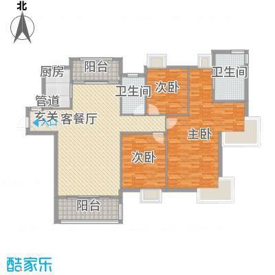 国贸润园152.00㎡2、3、5、6#楼3+1户型4室2厅2卫1厨