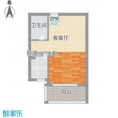 国贸润园5.00㎡户型1室