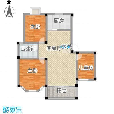 盛世莲花15.00㎡C1户型3室2厅1卫1厨