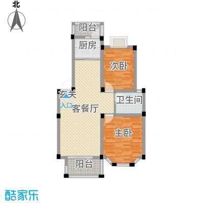 盛世莲花1、2、3#E户型2室2厅1卫1厨