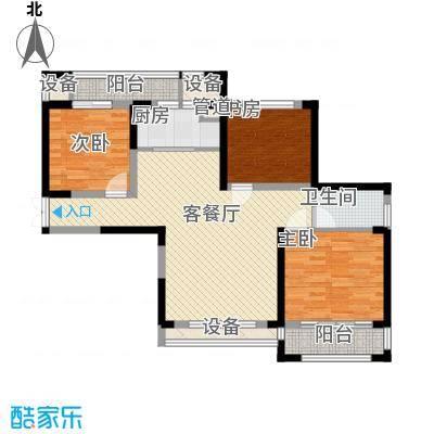 宝信润山115.00㎡一期4#楼西户E5户型4室2厅2卫1厨