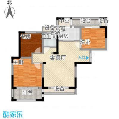 宝信润山118.00㎡一期7#楼中间户E3户型3室2厅1卫1厨