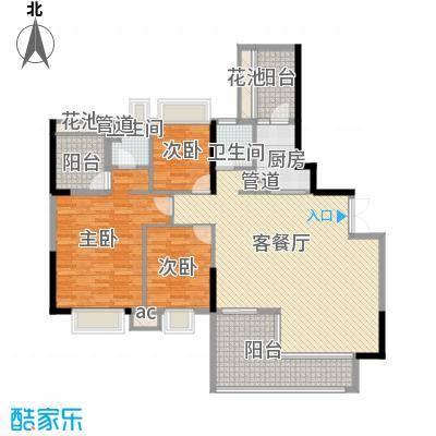 招商花园城148.16㎡一栋1单元01、0户型3室2厅2卫1厨
