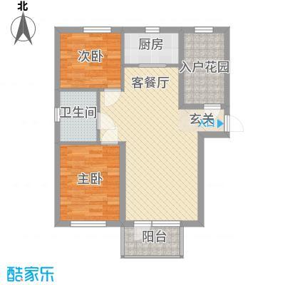 澳东世纪8.38㎡2号、3号楼2-1户型2室2厅1卫1厨