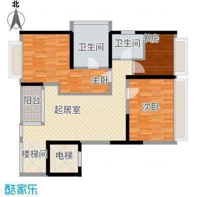 金地伊顿山18.13㎡4栋1单元0二层户型3室1厅2卫