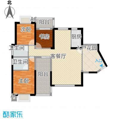 海晟维多利亚138.58㎡二期7#8#标准层01、04户型3室2厅2卫1厨