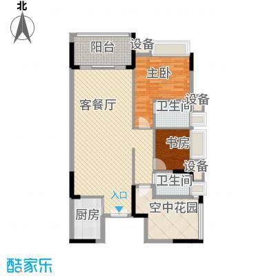 水岸珑庭112.40㎡11座03、04单元户型3室2厅2卫1厨
