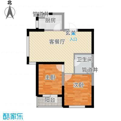 格林阳光城77.60㎡高层G4户型2室2厅1卫