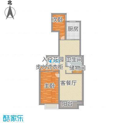 恒实城市广场・新城市花园13.43㎡5-4-1户型2室2厅1卫1厨