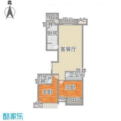 恒实城市广场・新城市花园144.73㎡4-3-01-C1户型2室2厅2卫1厨