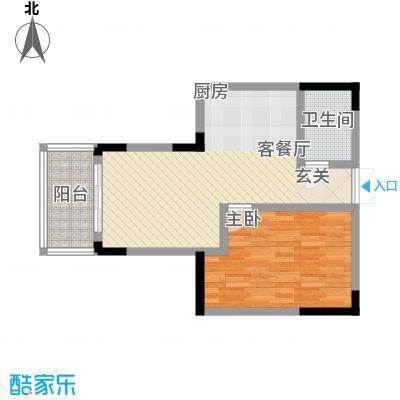 宇润人才公寓户型1室1厅1卫1厨