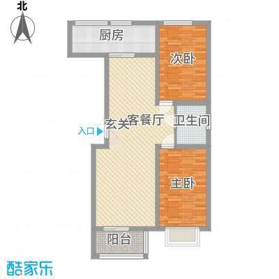 良园新居7.16㎡1号楼3号楼A3户型2室2厅1卫1厨