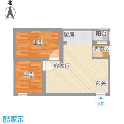 富逸花园51.00㎡公寓变户型2室2厅1卫1厨