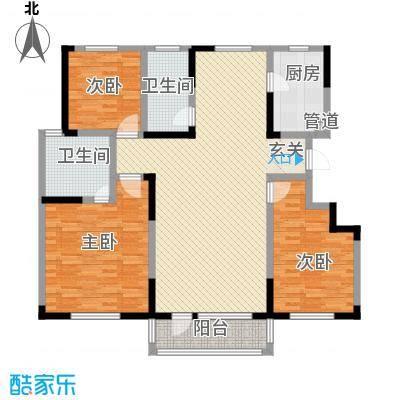 舜景苑163.46㎡一期高层23、24、25、26号楼F户型3室2厅2卫1厨