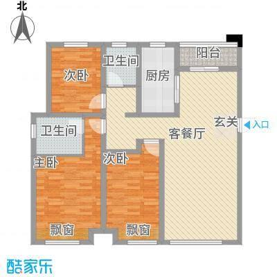 金科股份廊桥水乡127.55㎡C1户型