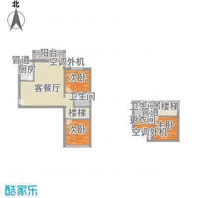 名品建筑114.51㎡A-13户型3室2厅2卫1厨