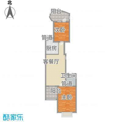 千禧学府苑11.32㎡V户型2室2厅1卫1厨
